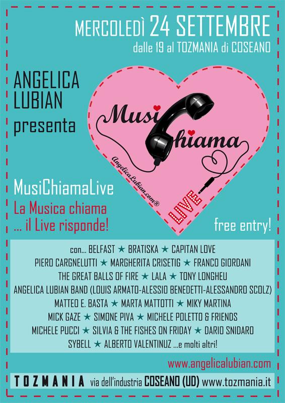 Angelica Lubian_MusiChiama Live_locandina